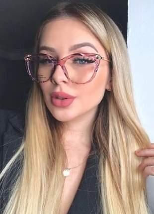 Armação óculos de grau feminina oval lilás