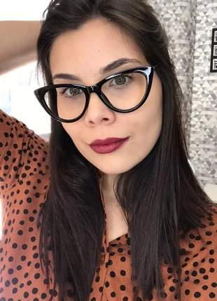 Armação óculos de grau feminina oval transparente