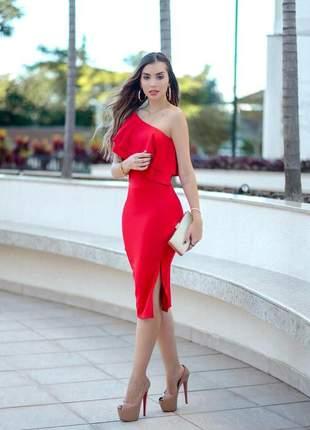 Vestido feminino tubinho midi festas tendência