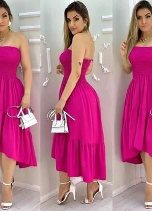 Vestido  vestido com lastex modelo mullet de alça moda feminina verão