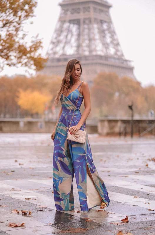 c07c1719e34b44 Macacão feminino longo crepe de malha com elastano - R$ 245.00 | SHAFA - O  melhor da moda feminina