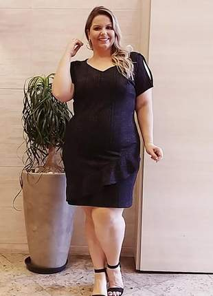 Vestido brilho plus size