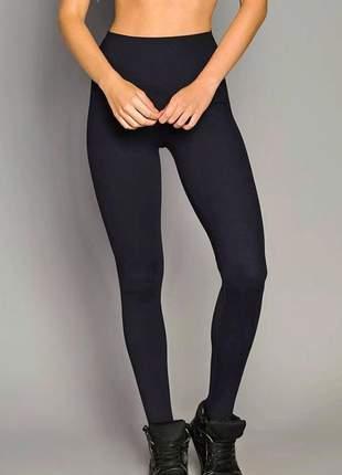 Calça legging de chelles fuseau pezinho cós anatômico preto ft0464ca código: ft0464ca
