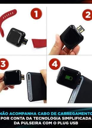 Smartwatch d13 varias funções confortável compatível com android e ios mede pressão