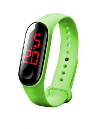 Relógio digital infantil led bracelete