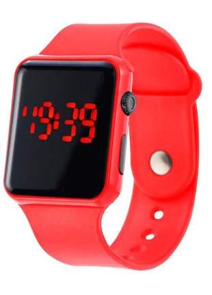 Relógio digital led pulseira silicone confortável varias cores
