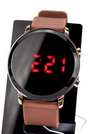 Compartilhar: relógio feminino pulseira de aço led modelo único redondo