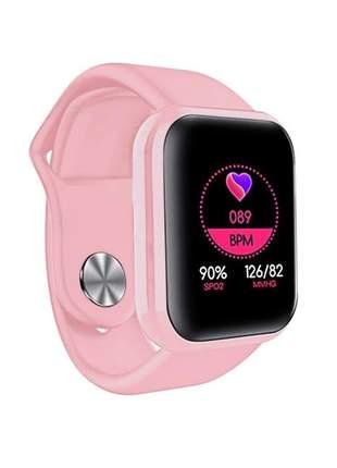 Relógio inteligente smartwatch v6 varias funções confortável compatível com android e ios