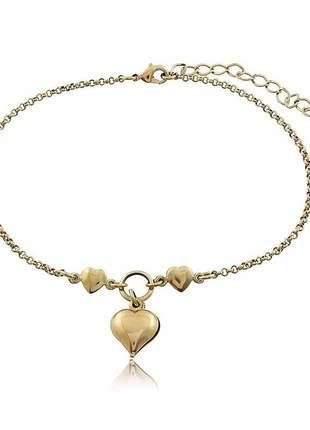 Tornozeleira 3 corações