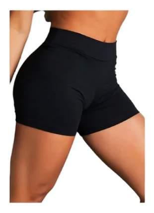 Kit 2 short suplex academia fitness feminino cós alto-wolfox
