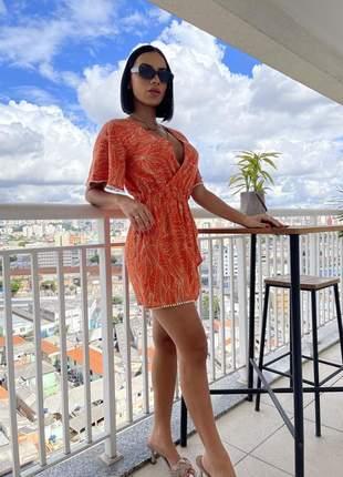 Macaquinho laranja viscolinho