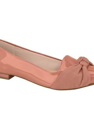 Sapatilha feminina moleca verniz camurça rosa blush 5655.320