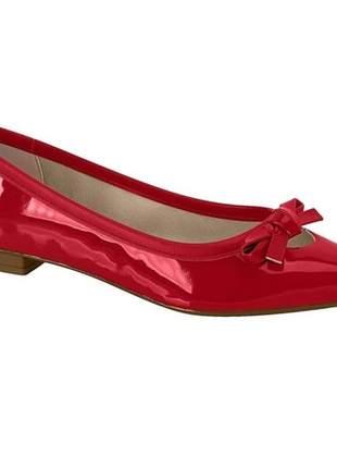 Sapatilha feminina moleca verniz premium vermelho 5655.223