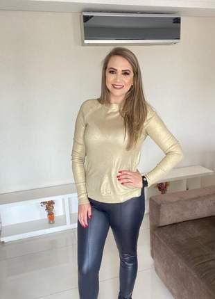 Blusa feminina tricot foil