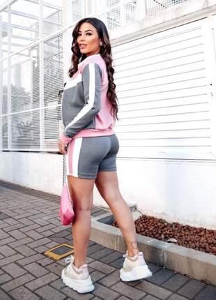Novidade sao 3 peças shorts tshirt blusa cod.pink