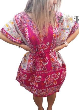 Vestido bata kaftan indiano saida de praia barato
