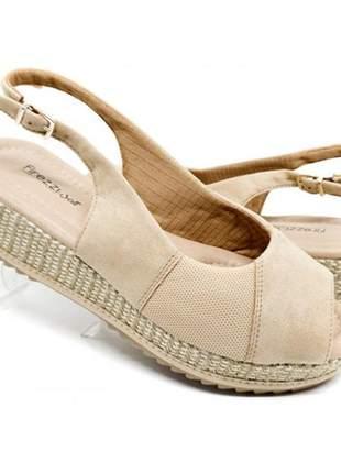 Sandália comfort firezzi nude