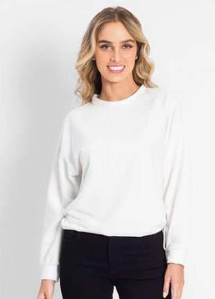 Blusão pelinho branco feminino e13612022