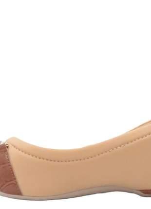 Sapatilha  peep toe feminina pessêgo comfortflex 2071304