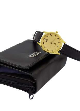 Kit dia das mães carteira + relógio original