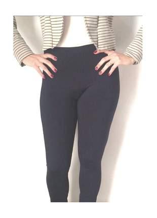 Calça legging suplex peluciada/flanelada preta