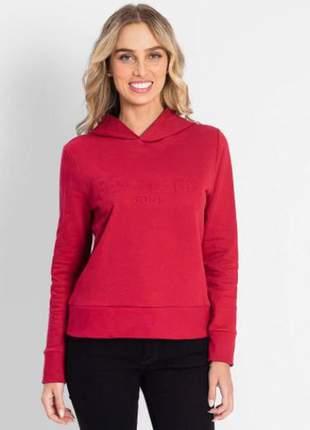 Moletom vermelho feminino com capuz  6152885778