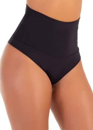 Calcinha cinta modeladora cós duplo cintura alta