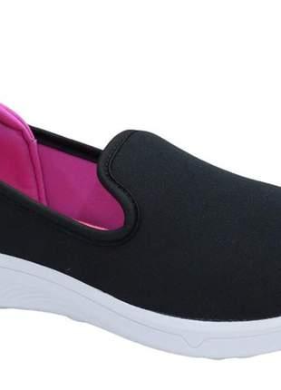 Tênis preto/pink feminino moove 3533b