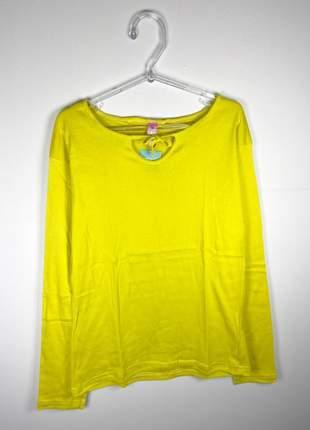Blusa básica segunda pele manga longa gola redonda com amarração tamanhos g ou gg