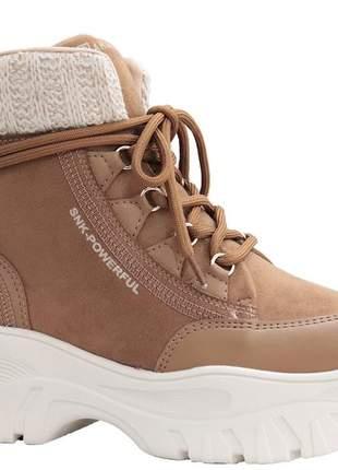 Tênis bota caramelo feminino ramarim 2186132c