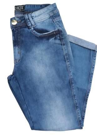 Calça jeans feminina lavagem clara 9088