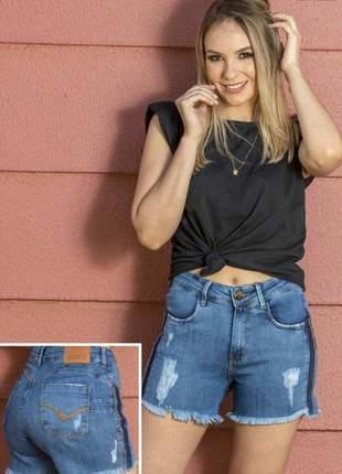 Short jeans feminino claro 9100