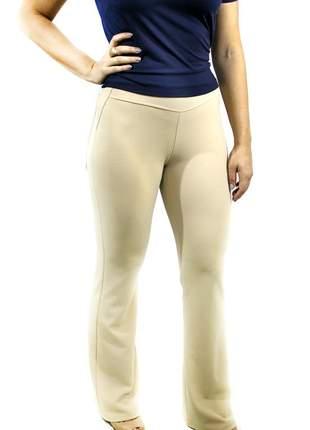 Calça de malha crepe, feminina cintura alta