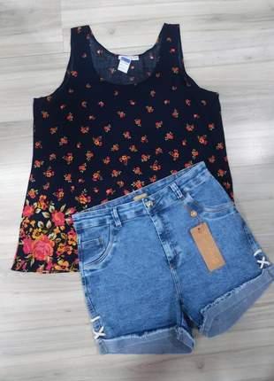 Kit de natal - blusa + shorts