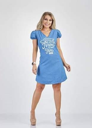 Vestido feminino jeans curto 90394