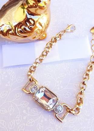 Pulseira glamour ouro