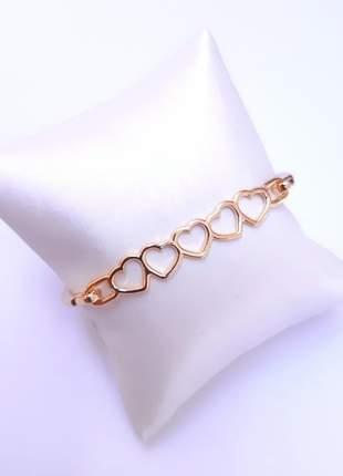 Bracelete ouro coração