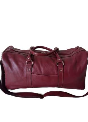 Bolsa de couro macio para viagem