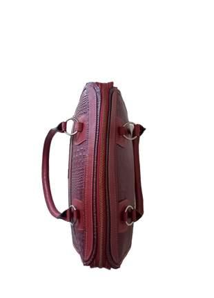 Bolsa de couro croco estruturada