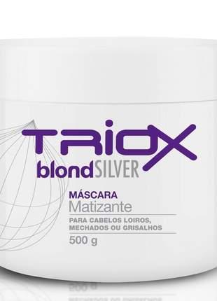 Máscara blond silver matizante para cabelos loiro e grisalho