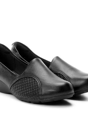 Sapato anabela feminino modare ultra conforto 7014229