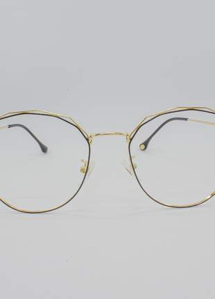 Armação óculos de grau feminino miopia hipermetropia rafaello - raf43