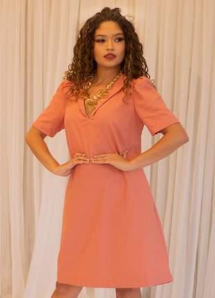 Vestido linho verão rosê
