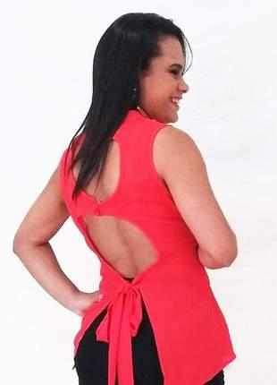 Blusa costas de fora vermelha