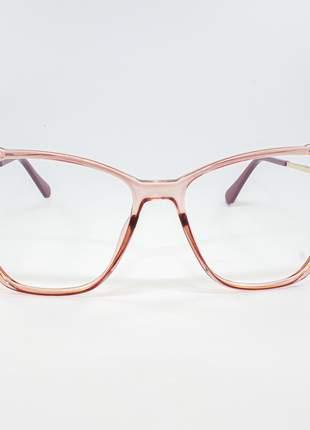 Armação óculos de grau feminino miopia hipermetropia rafaello - raf47
