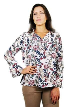 Camisa linda feminina manga flare