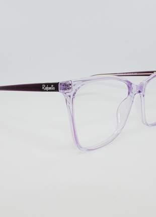Armação óculos de grau feminino miopia hipermetropia rafaello - raf50