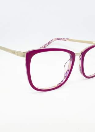 Armação óculos de grau feminino miopia hipermetropia rafaello - raf53