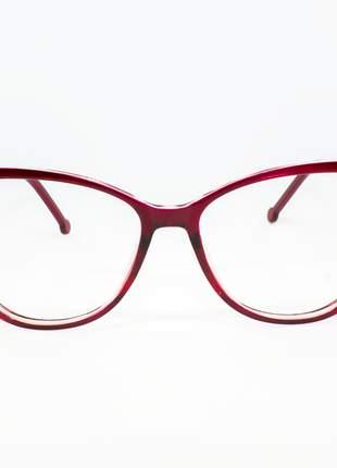 Armação óculos de grau feminino miopia hipermetropia rafaello - raf55