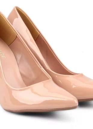 Scarpin feminino elegante salto alto fino rosa claro 3979299